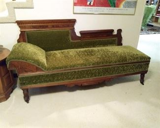 Gorgeous Fainting Couch makes out into a bed.