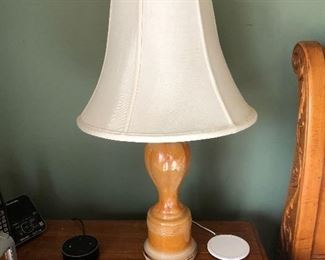 Pair of antique lamps