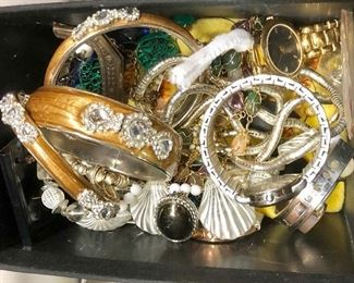 Box of fun costume jewelry