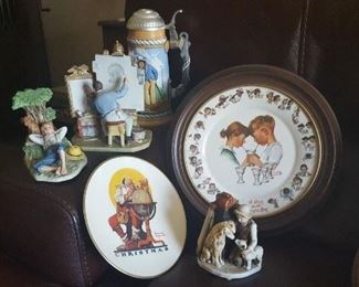 A great little assortment of Norman Rockwell items.
