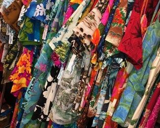 Men's Hawaiian shirts and women's dresses galore!