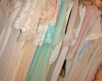 HUGE selection of peignoirs, full slips, half slips and negligee/nighties!