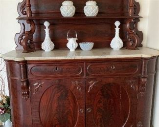 Antique Marble Top Buffet