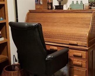 Oak S Roll Top Desk