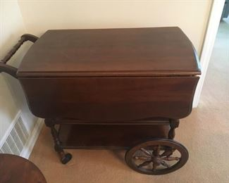 Tea Cart - Located in the Living Room •	Cherry •	Harden