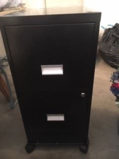 Two Drawer Filing Cabinet on Casters
