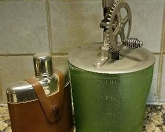 Flask and Butter Churn