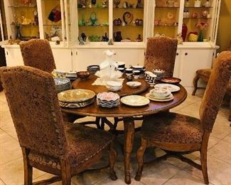 Beautiful Large Round Table Set; China Sets; Collectible Decor