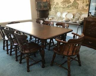 Cochrane Ind. dining table and chairs.