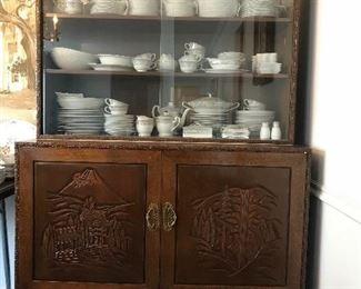 Custom made Japanese china cabinet.