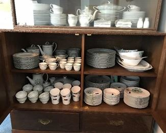 Noritake and Seyei china a lot of pieces are new.