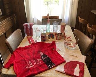 Assorted set of Coca Cola memorabilia-some are new.