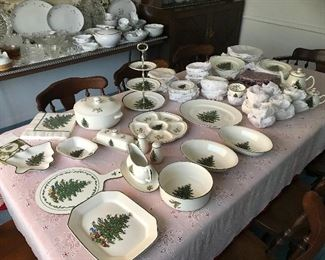 Cuthbertson 12 piece place setting and assorted serving pieces.  Most of the china is new.  The pieces that have been used do not show any wear.