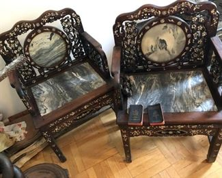 MARBLE CHAIRS
