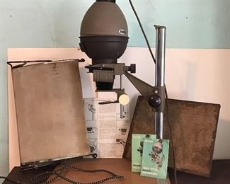 Photo enlarger and blotter- some other photo equipment is also available but not pictured.