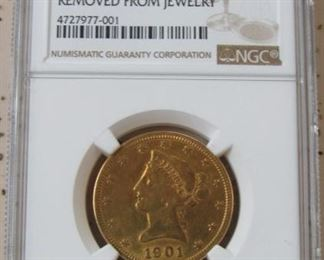 NGC 1901 Gold $10.00 Coin