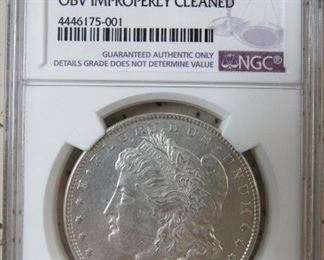 NGC 1878  8 Tail Feathers Morgan Silver Dollar