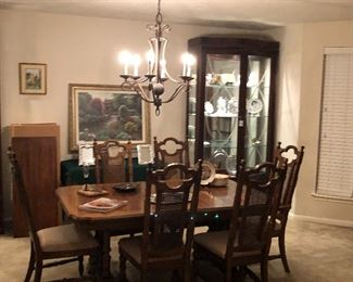 dining table and china cabinets