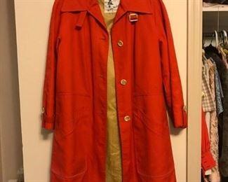 vintage orange all-weather coat!! Gidget wore this!