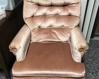 upholstered rocker arm chair (I fell asleep in this last night. Very comfy)