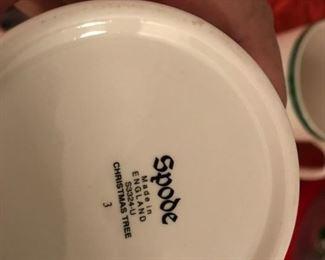 Spode porcelain Christmas coffee cups