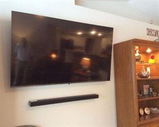 "65"" Samsung TV & sound bar (less than 1 year old!)"