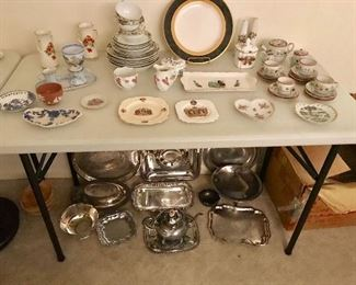 Porcelain and silver plate