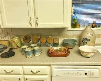 Majolica, earthenware, Tlaquepaque, crock jug