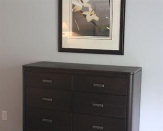 """""""Lauren"""" framed print and Mobel Furniture dresser"""