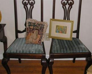 Two Matching Edwardian Chairs
