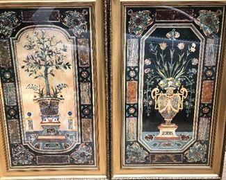 "Fabulous pair of botanical prints.  48"" x 20"""