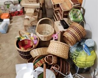 Baskets and other items