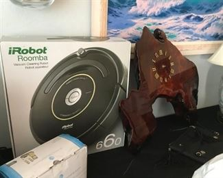 iRobot Roomba | Burl Walnut Clock