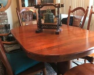 Cherry Dining Room Set | Decorative Chinese Bell | Mid-Century Danish Teak Cabinet