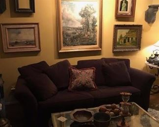 Brown Couch Room