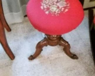 Embroidered Deco Stool