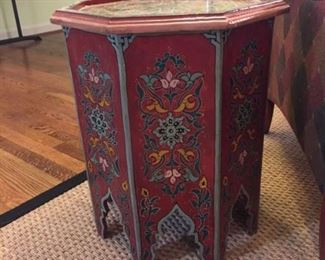 Octagonal Maroccan painted table