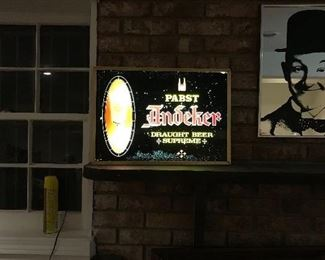 Papst beer sign