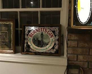 Burnetts Gin Sign