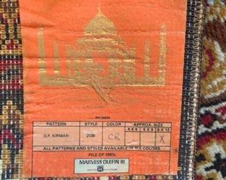 #59x12 Marvess Olefin rug  $65.00