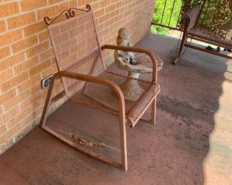 #8brown metal chair $35.00