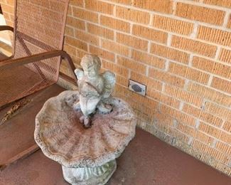 #9shell fountain w angel on it 24 tall  $100.00