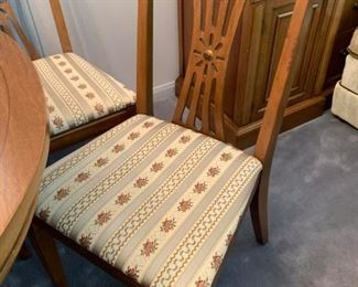 #23Wood Table w/5 chairs  62x42x29 - as is $175.00