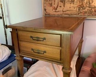 #26Inlay Top EndTable w/1 drawer   20x28x21  (2)  $75 Each $150.00