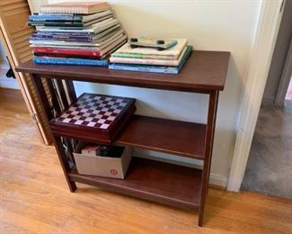 #502 shelf Wood Bookshelf   31x12x30 $75.00