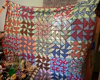 #62Flying Geese - as is Quilt Top $25.00