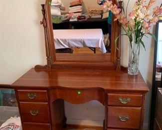 #64Vanity w/7 drawers & Mirror 46x18x30  Mirror   44x35 $175.00
