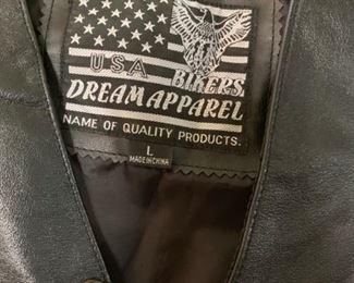 #73Leather Biker Vest - Large - Dream apparels $25.00