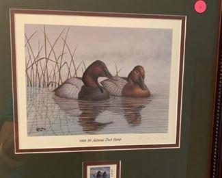 #71John Warr - 1988-89 - Alabama Duck Stamp Print   372/1200 $75.00