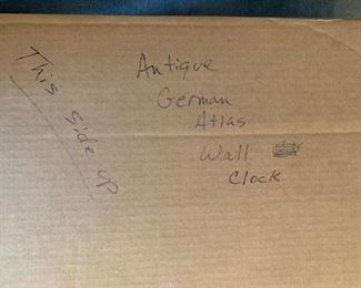 #75Vintage Brass/Wood MuElk Syn Sin Globe Wall Clock Delft Sriking Hermle UCW $300.00